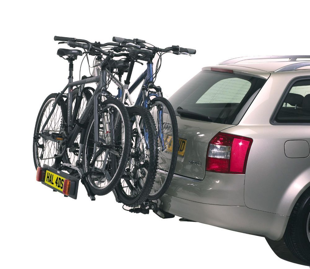 Thule 9403 3 bike tow bar carrier car rear rack bicycle for Stand auto
