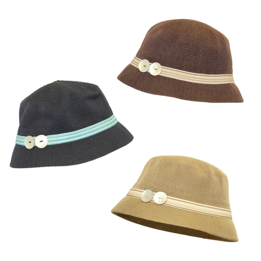 Womens Bucket Hat with Colorful Band Cute Comfortable ...