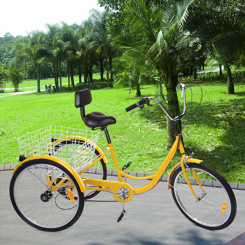 3 speed adult foldable tricycle
