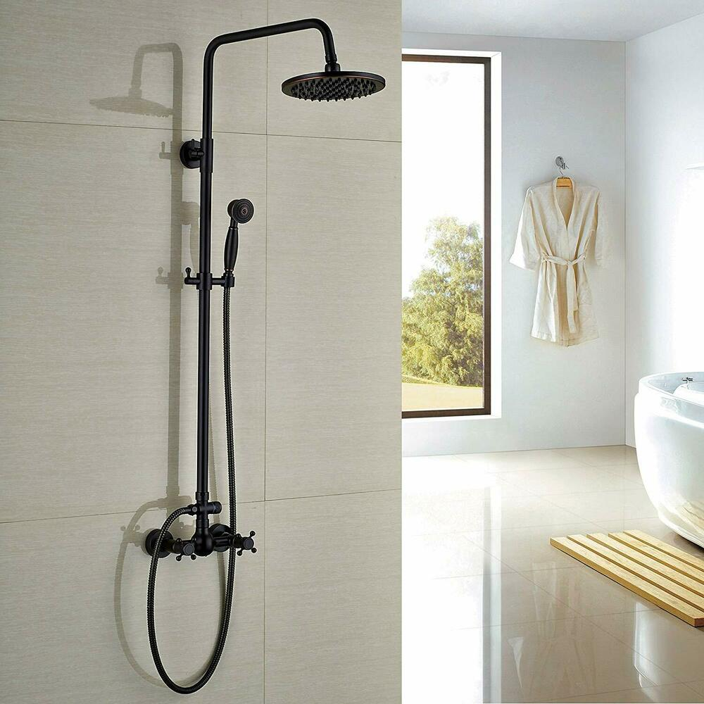 Chrome Bath Shower Faucet Set 8 Quot Rain Shower Head Hand