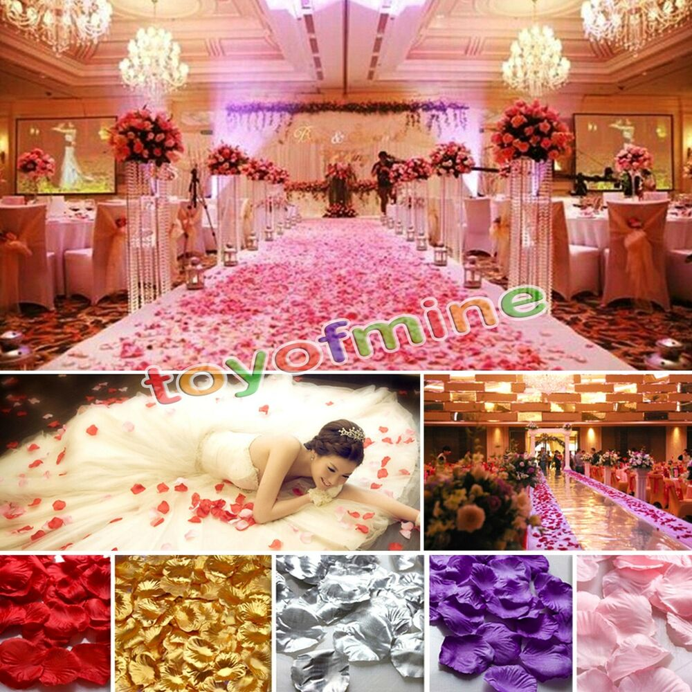 ebay wedding decor 200 1000pcs various colors silk flower petals wedding 3808