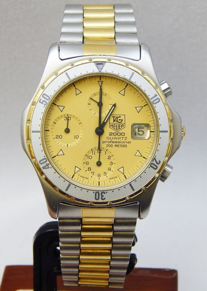 tag heuer 2000 quartz professional chronograph stainless steel watch ebay. Black Bedroom Furniture Sets. Home Design Ideas