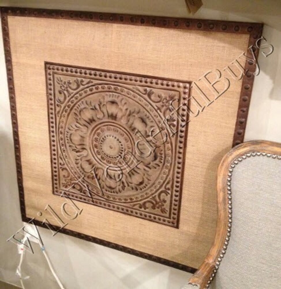 Large Architectural Wall Decor : Large embossed medallion metal wall decor art