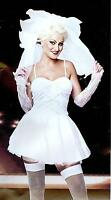 "FANCY DRESS ""BRIDE""  BRIDE TO BE HEN PARTY  4 SIZES 8-18 GW 2452"