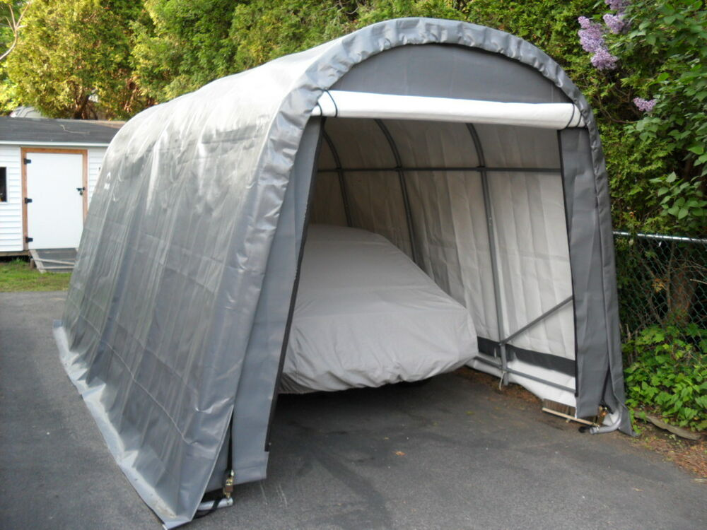 Temporary Garages For Large Trucks : Shelter logic car truck boat cover portable garage