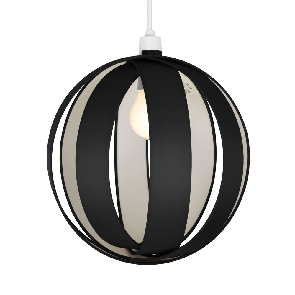 Ceiling Lamp Shade Materials: Large Modern Black Fabric Cocoon Ceiling Light Pendant