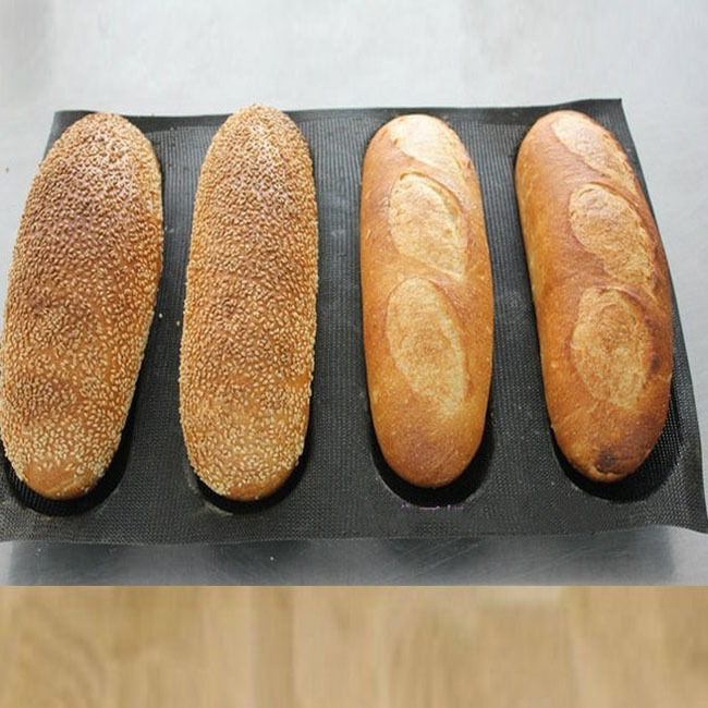 Silicone French Bread Mould Baking Tray 4 Rolls Baguette