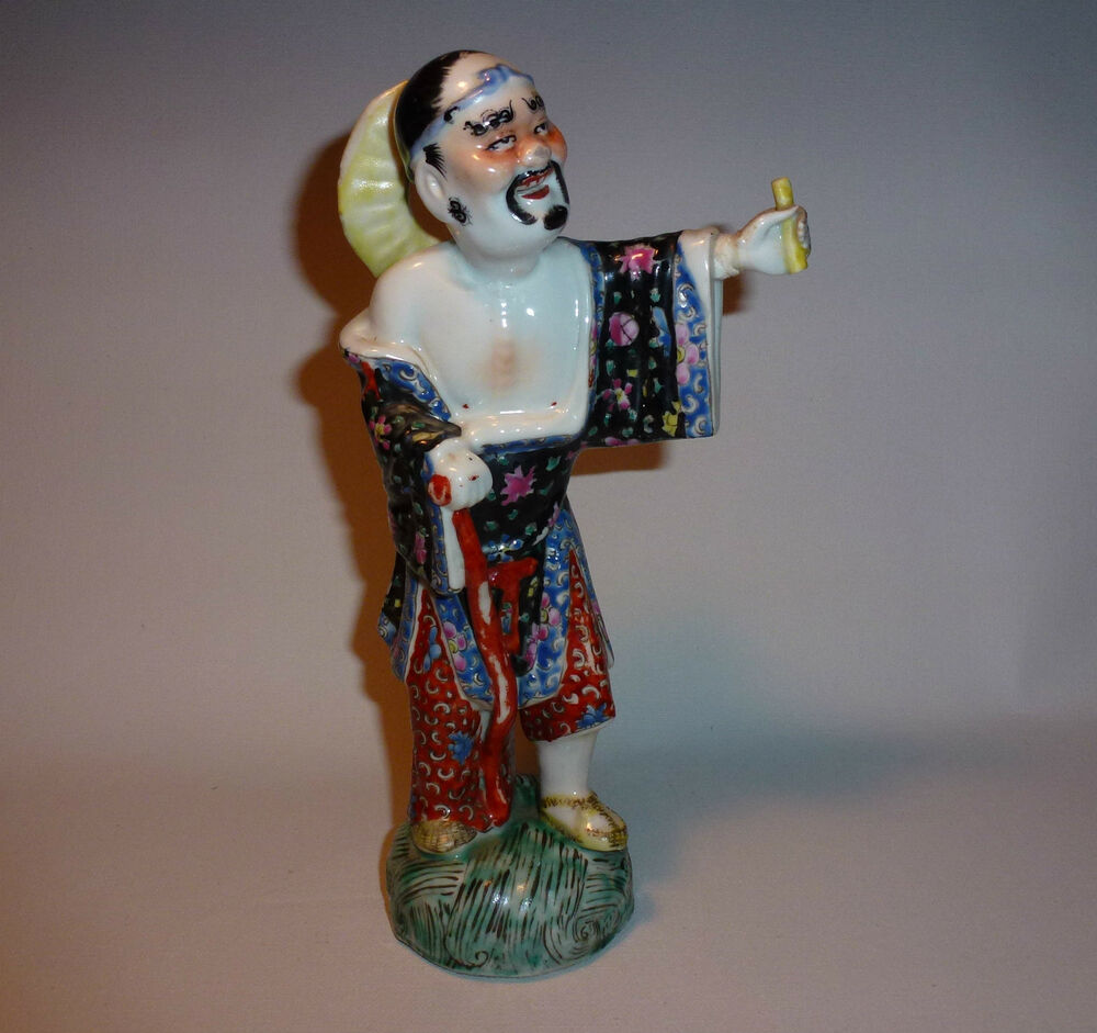 Chinese porcelain figurine of man immortal marked ebay