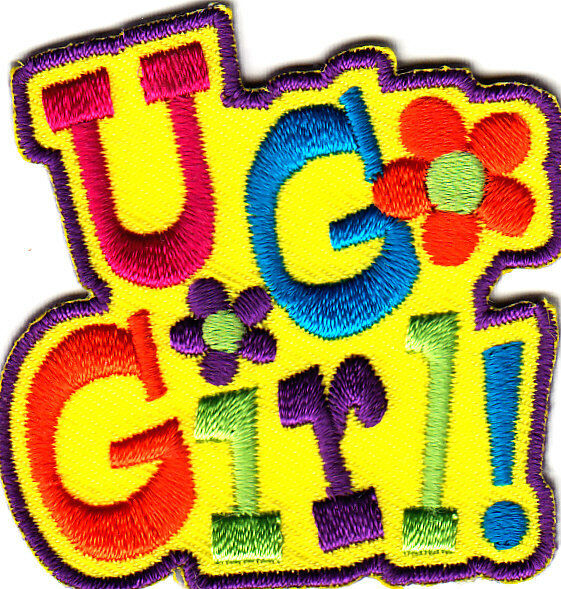 Quot u go girl iron on embroidered applique patch sports