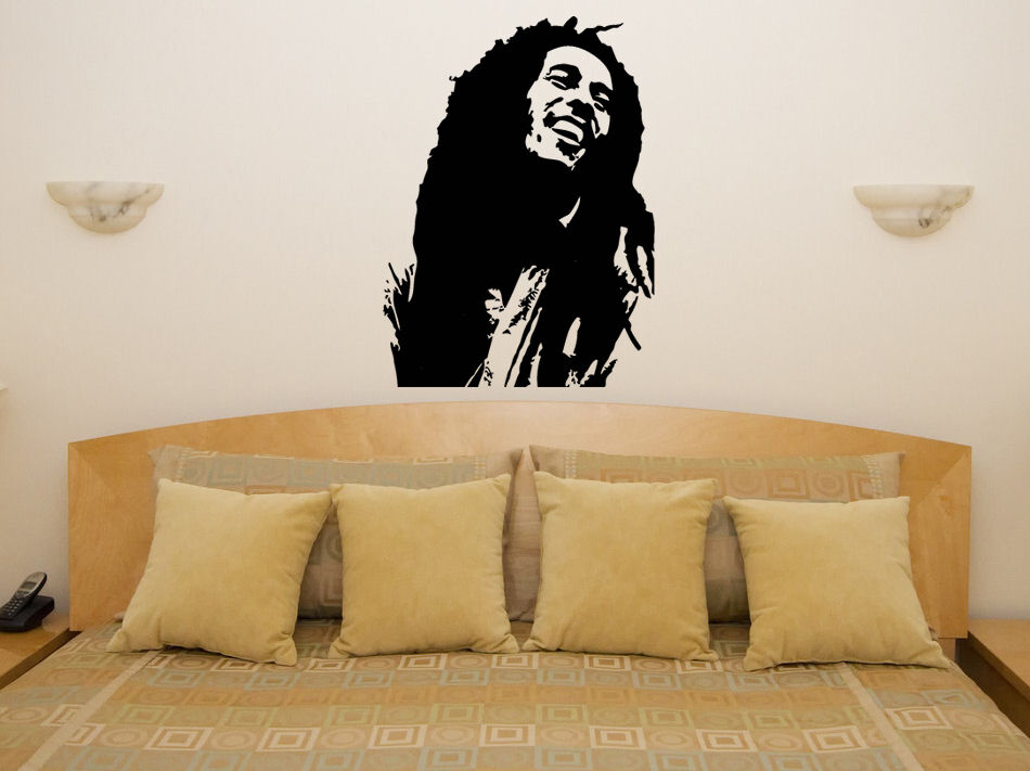 bob marley reggae bedroom living room music lyric decal wall art