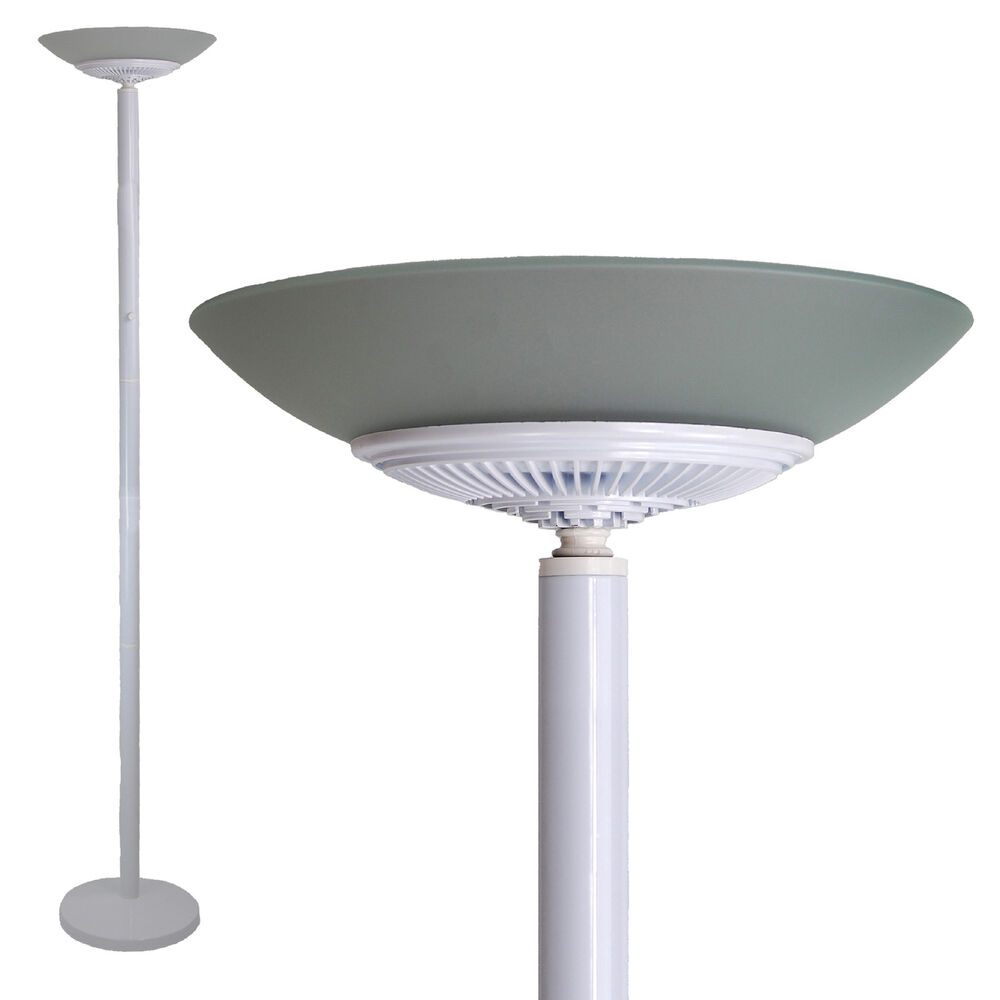 LED Floor Standing Energy Efficient Lamp Uplighter Torchiere White Day ...
