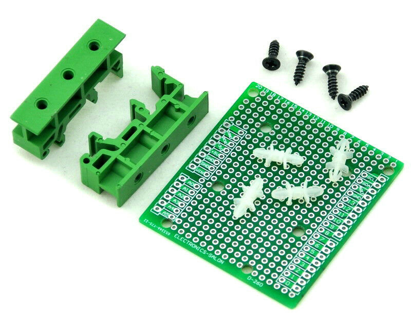 Din rail mount adapter prototype pcb kit for arduino uno
