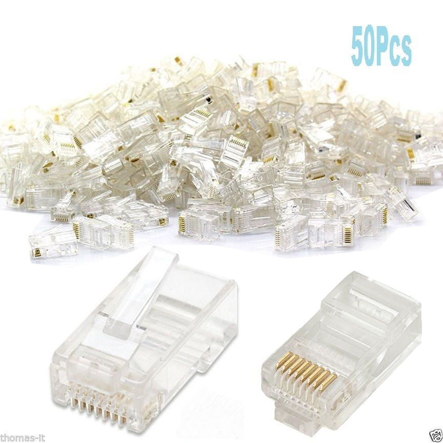Cat 5 Ends What Kind Of Breed Should I Get Quiz How To Make My Diagram Rj45 Wiring On Santomieri Systems Wire Diagrams 50 X Ethernet Network Cat5 Cat5e Cable End Crimp Southwest Catering Hot Springs
