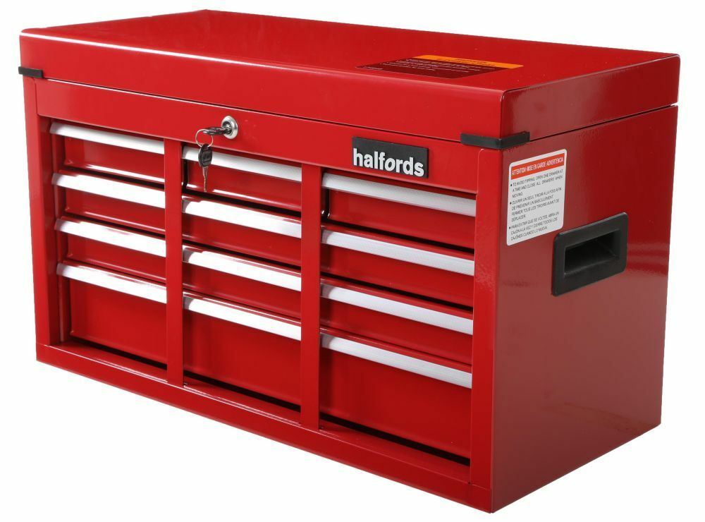 garage tool storage halfords 6 drawer tool chest 81kg handle lock bar 15754