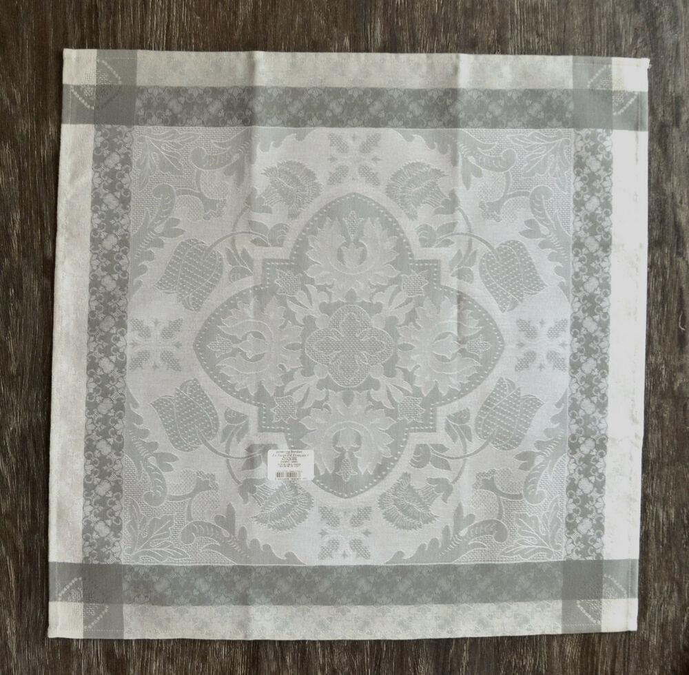 le jacquard francais azulejos grey napkins set of 4 ebay. Black Bedroom Furniture Sets. Home Design Ideas
