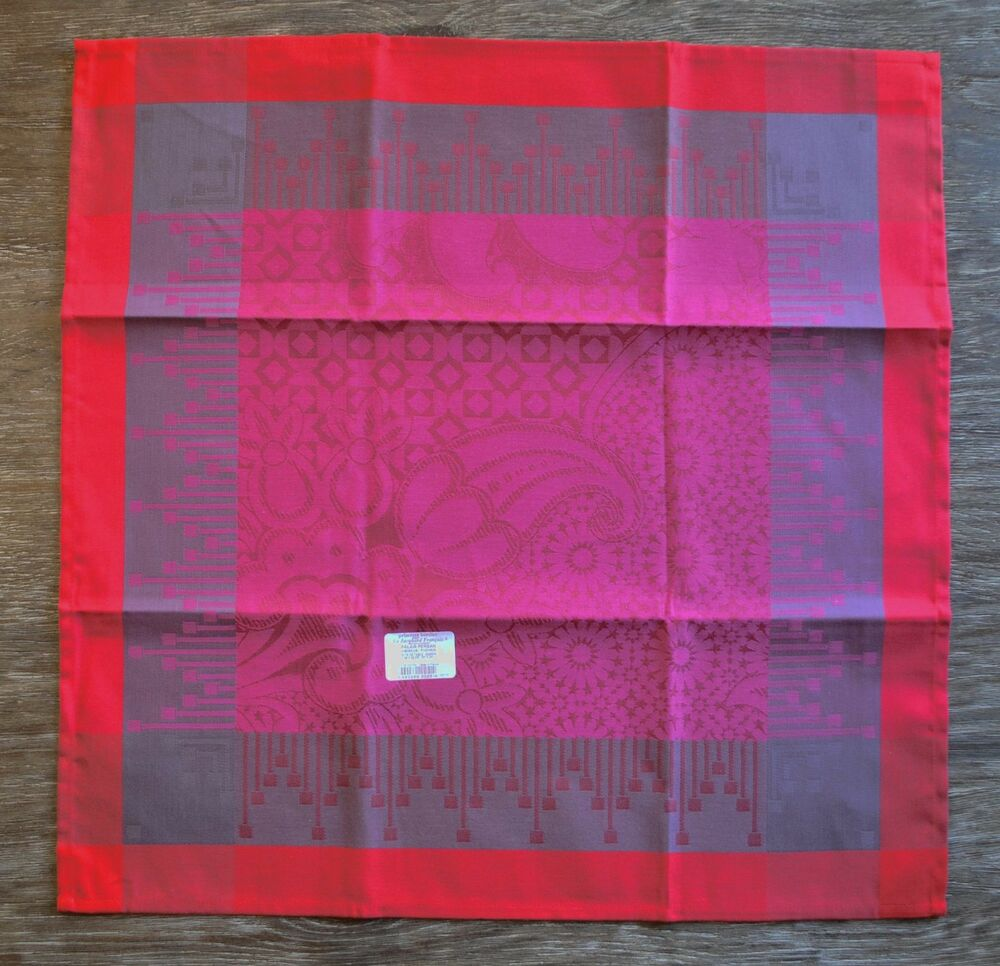 le jacquard francais palais persan fuchsia napkins set of 4 ebay. Black Bedroom Furniture Sets. Home Design Ideas
