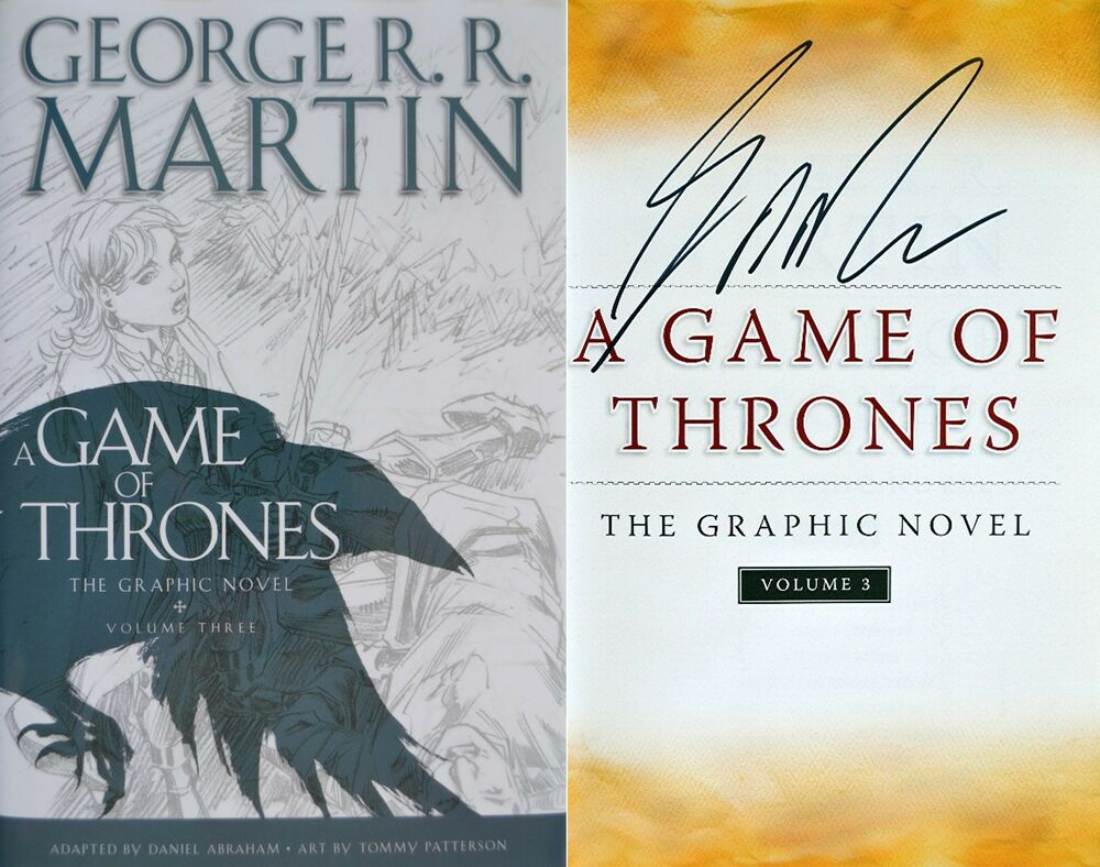 autographed game of thrones book