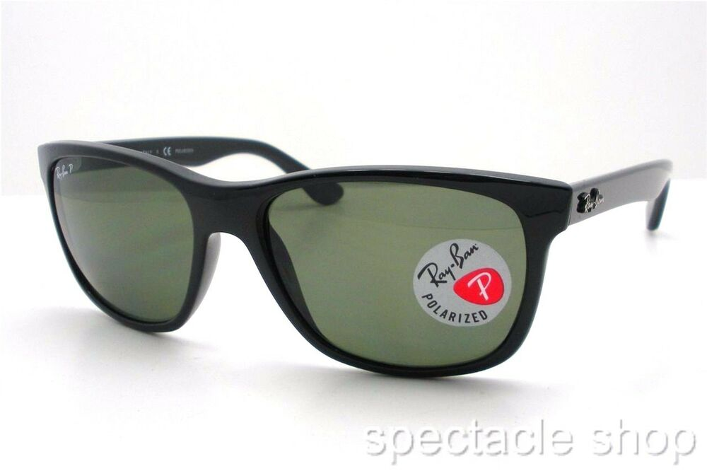 ray ban outlet italia  ray ban rb 4181 601/9a black polarized new 100% authentic made in italy