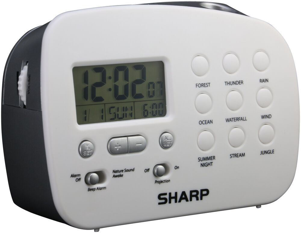 Sharp Spc570 Projection Alarm Clock With Nature Sounds Ebay