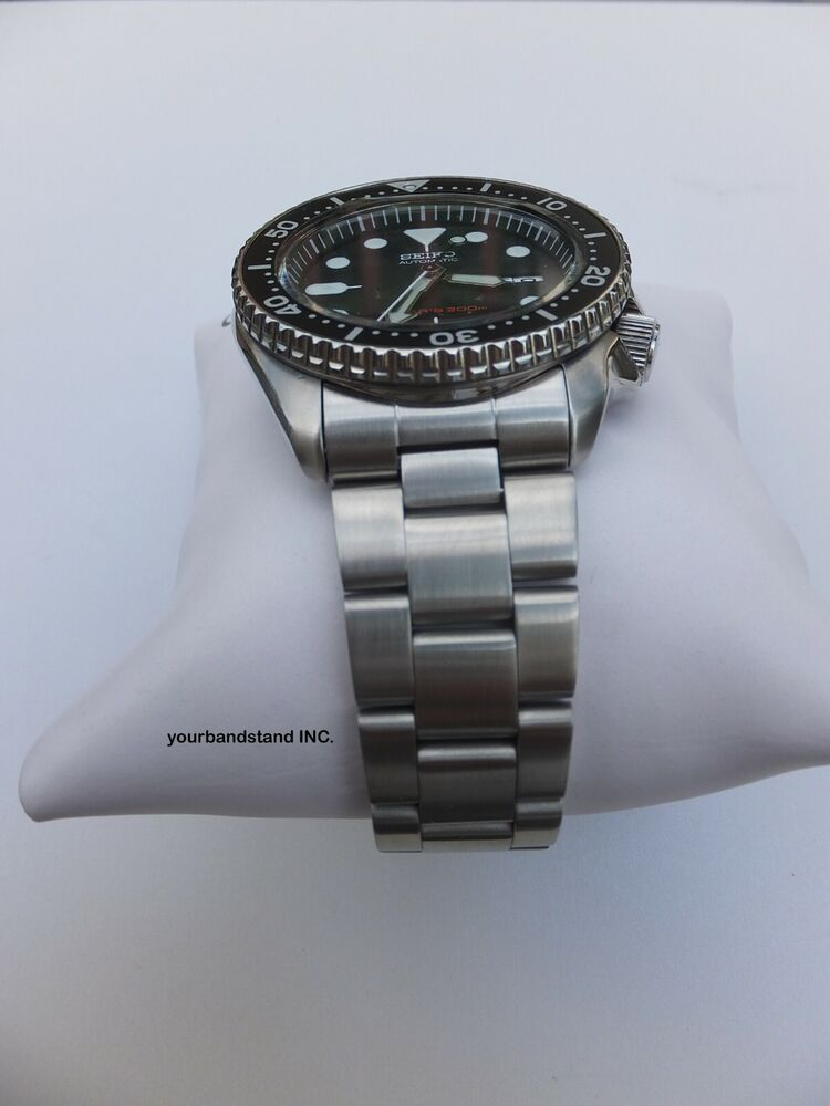22mm Curved Stainless Steel Oyster Bracelet Fit Seiko