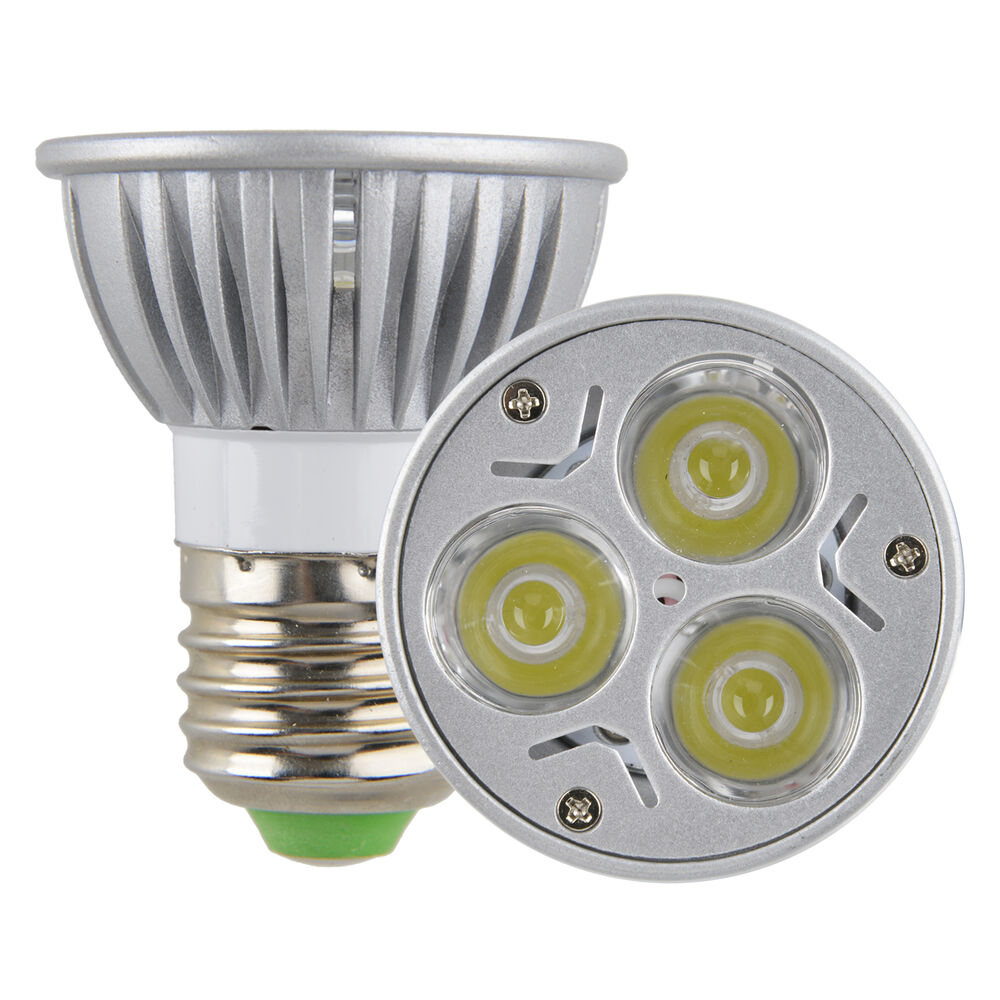 Led Spotlight Light Bulbs: Dimmable E27 PAR16 9W 3*3W Screw LED Spot Light Fitting