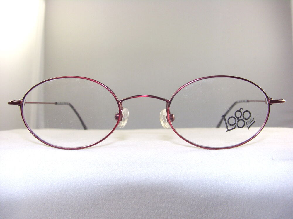 Eyeglass Frames Measurements : LOGO NX2440 OVAL EYEGLASS FRAME IN BURGUNDY SIZE 45-20 eBay