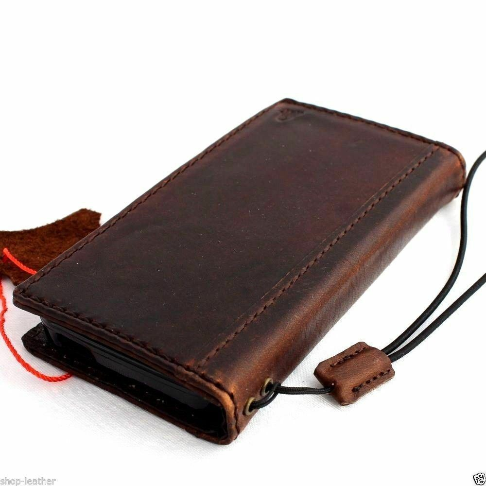 Genuine Leather Case For Iphone 5c 5s Se Wallet Flip Pouch