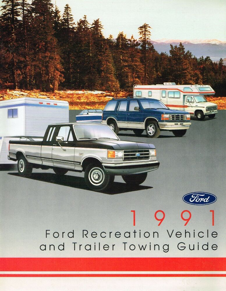 1991 ford trucks towing rv guide brochure f series 150. Black Bedroom Furniture Sets. Home Design Ideas