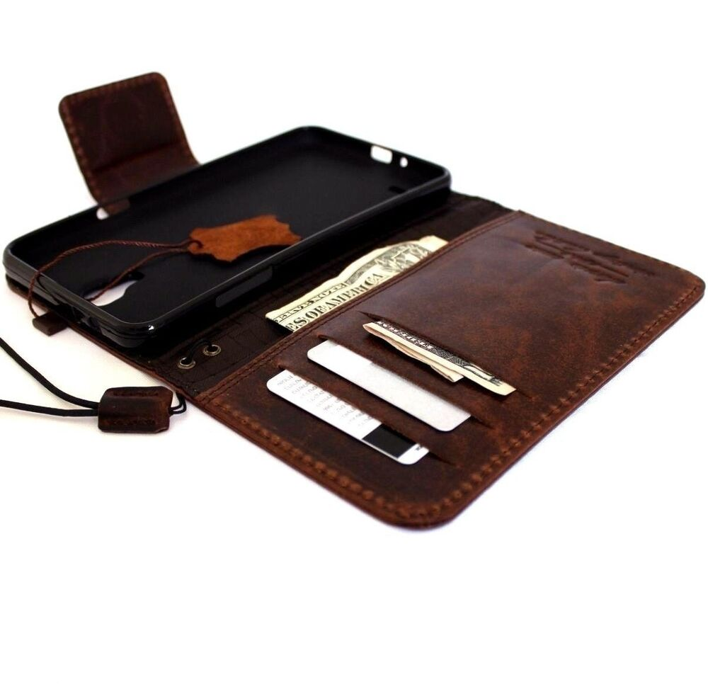 genuine Real leather Case for Samsung Galaxy Mega 2 book wallet ...