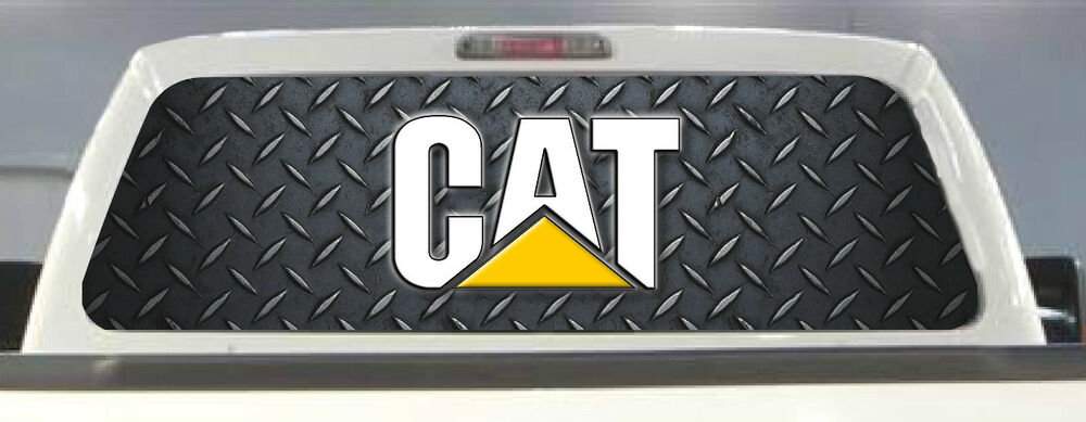 Caterpillar Cat Pick Up Truck Rear Window Graphic Decal
