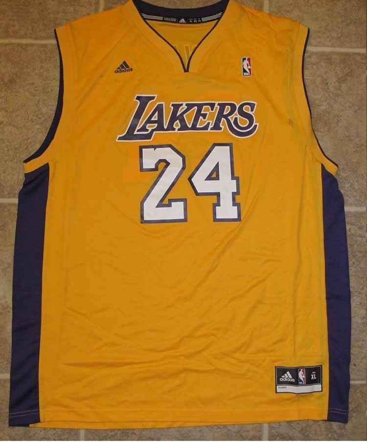 84ca5295d4d Adidas NBA Jersey Los Angeles Lakers Kobe Bryant Gold sz 2X