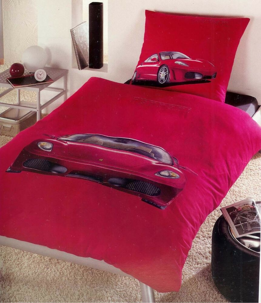 Ferrari Red Sport Car Duvet Doona Quilt Cover Set