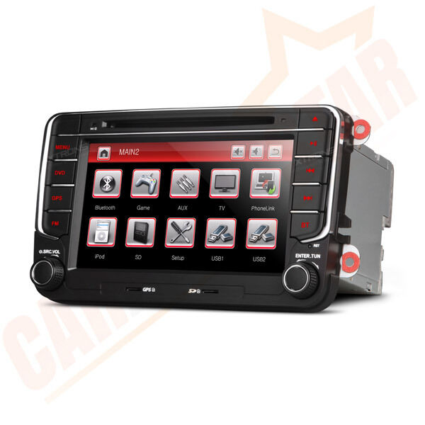vw golf mk5 mk6 jetta 7 car stereo radio dvd sat nav gps. Black Bedroom Furniture Sets. Home Design Ideas