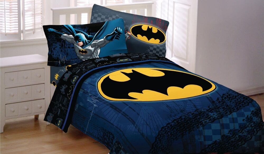 NEW! BATMAN DC Comic Full Double Size Bed Comforter Sheet Set Bed ...