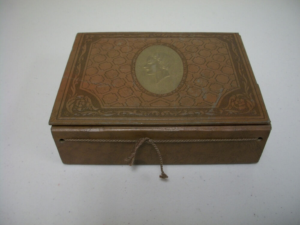 Vintage Art Deco Pressed Cardboard Dresser Vanity Box With