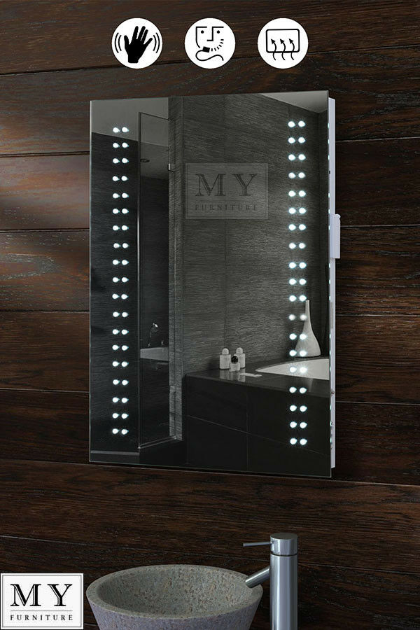 led bathroom mirrors with demister and shaver socket led illuminated bathroom mirror demister shaver sensor 26447