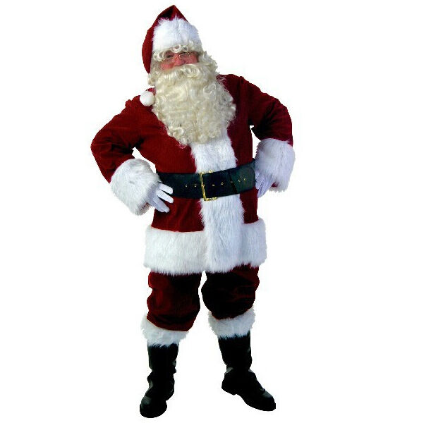 Ho Ho Ho, Merry Christmas! Just think of the joy that a Santa Suit Costume can bring to a young boy or girl. Costume SuperCenter has Santa Suits for everyone. If you are going to play Santa Claus professionally for portraits at a retail venue, we have a selection of professional Santa suits that are of the highest quality.