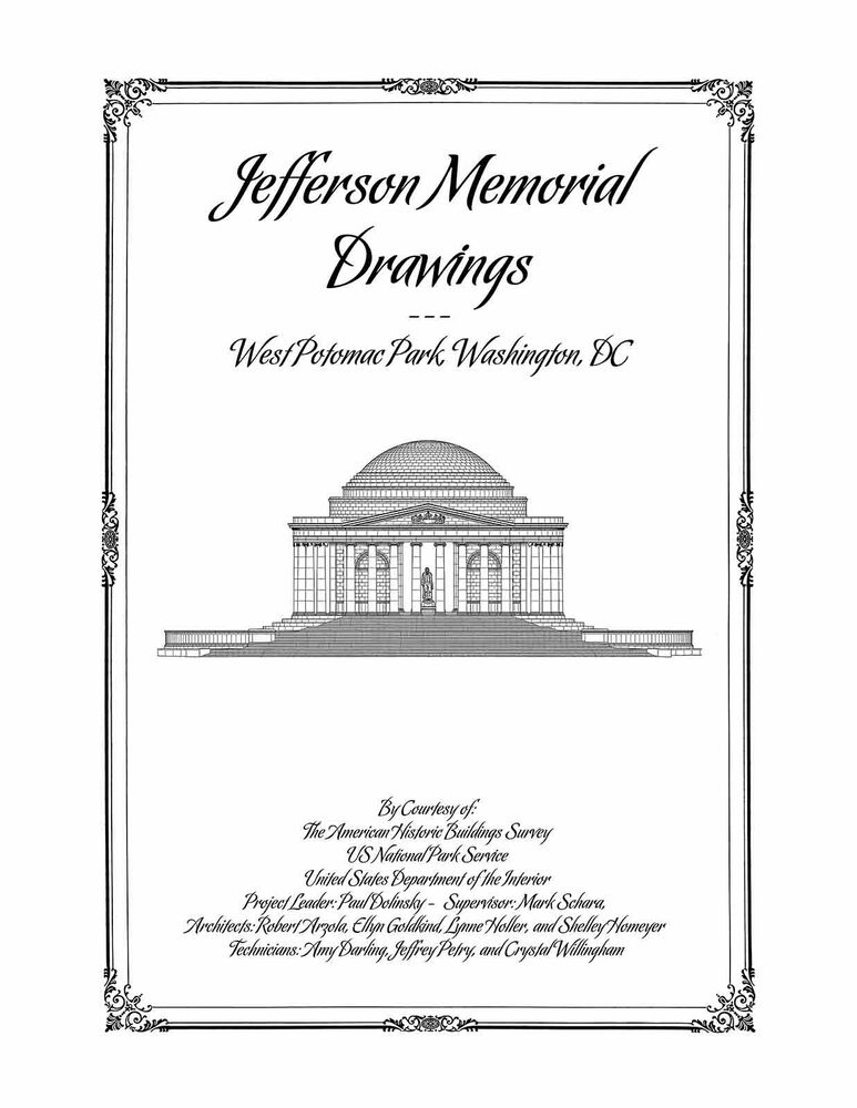 The jefferson memorial drawings plan book of for Plan books