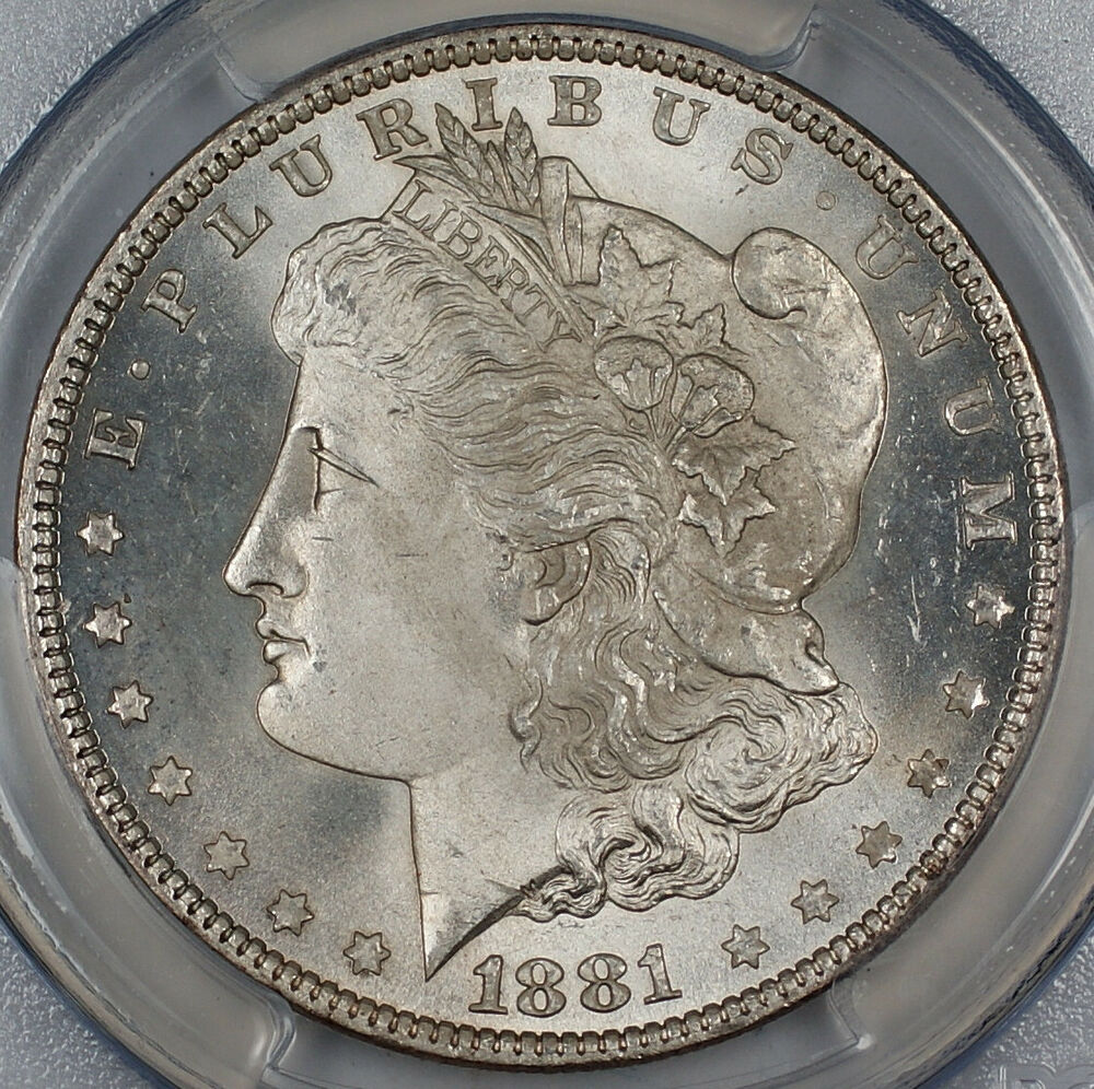 1881 O Morgan Silver Dollar 1 Pcgs Genuine Gem Bu Ebay