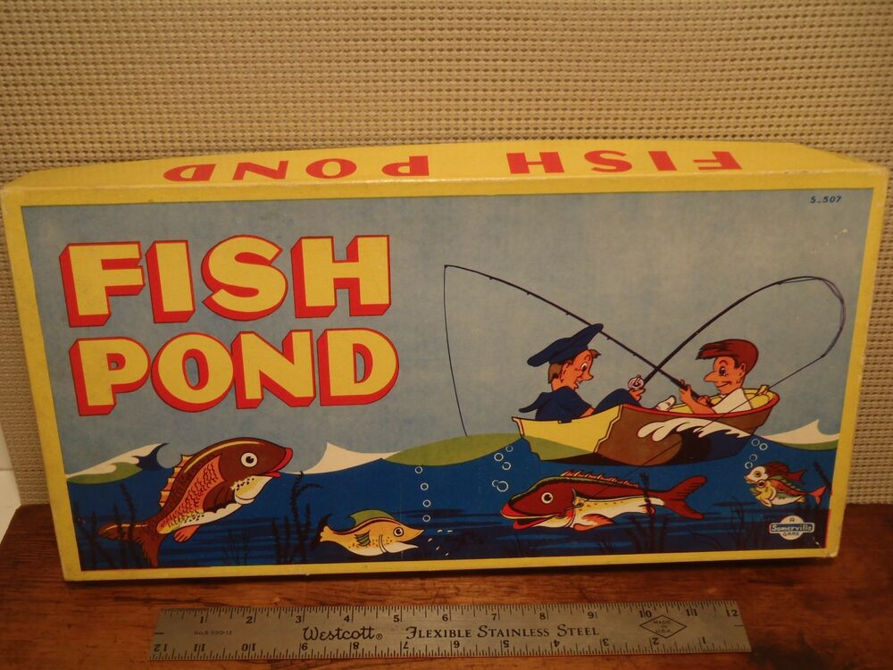 Vintage 1950 39 s fish pond board game ebay for Fish pond game