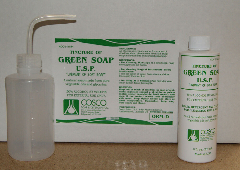 1x 8oz bottle cosco tattoo green soap with 8oz plastic for Good soap for tattoos