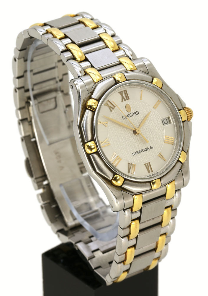 mens stainless steel gold concord ebay