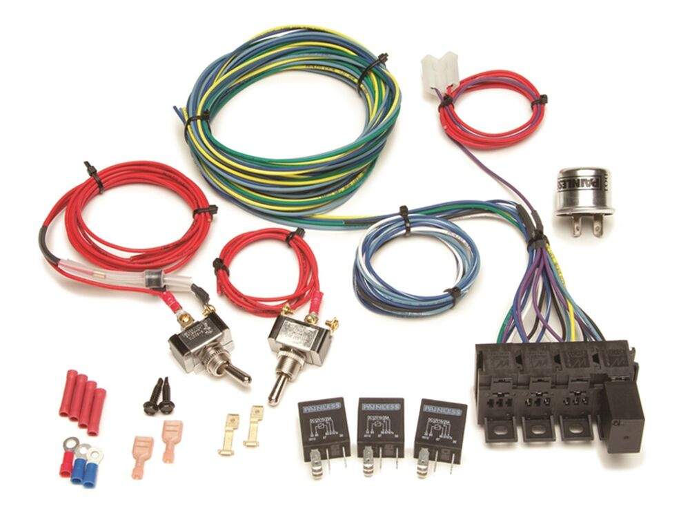 Painless Rocker Switch Wiring Diagram : Painless wiring universal turn signal harness relay