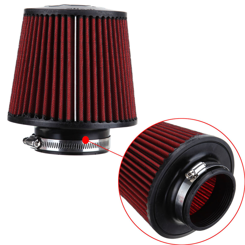 Air Filters For Cars : Mm universal red finish car air filter cleaner induction