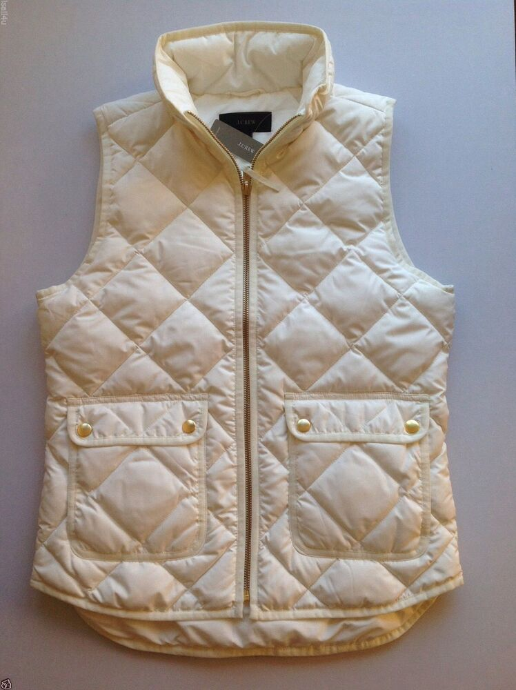 J Crew Excursion Quilted Down Vest Nwt Color Bright