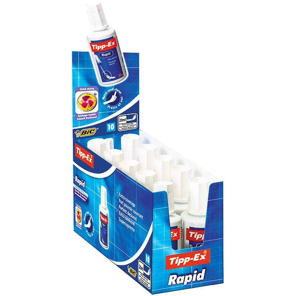 tipp ex rapid 20ml correction fluid tippex bottles multi quantity 1 2 3 5 10 ebay. Black Bedroom Furniture Sets. Home Design Ideas