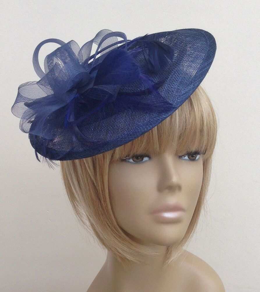 New Navy Blue Hat Fascinator Mother Of The Bride /Groom