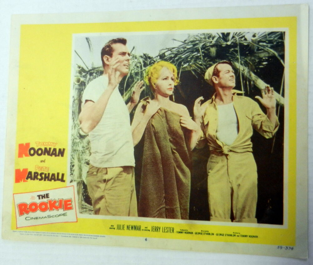 THE ROOKIE Film Lobby Card Peter MARSHALL Julie NEWMAR