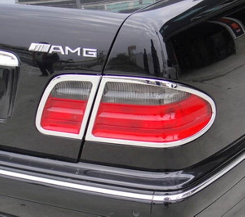 Mercedes e class w210 95 02 chrome rear light trim ebay for Mercedes benz chrome accessories