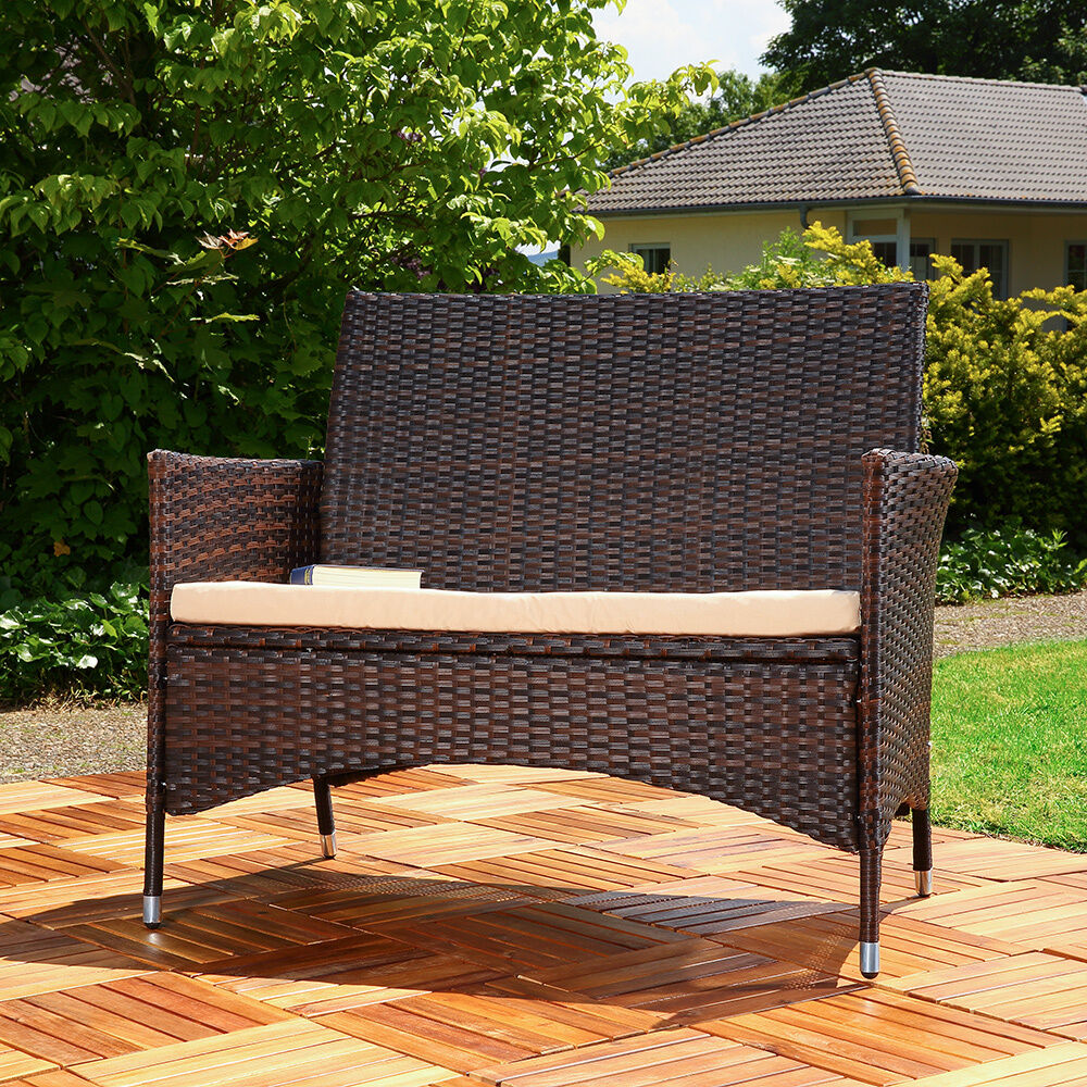 gartenbank mit truhe rattan 045200 eine. Black Bedroom Furniture Sets. Home Design Ideas
